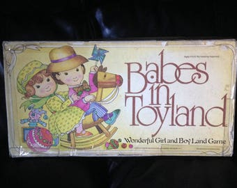 Vintage 1978 Babes in Toyland Wonderful Girl and Boy Land Board Game - Complete