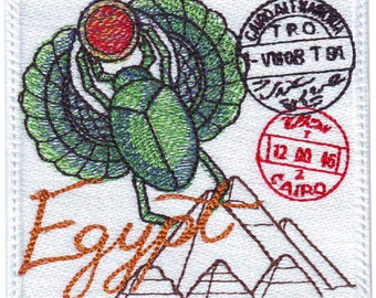 Egypt Stamp Embroidered Patch