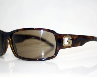 GUCCI Mens Designer Vintage Brown Sunglasses GG 1583 V086J 11164