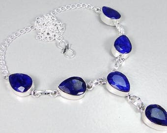 Sapphire 925 silver necklace