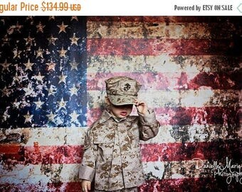 10ft x 6ft American Flag Photo Prop - 4th of July Photography Backdrop - Patriotic Photography Background - Vinyl - Item 1321