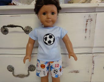 "18"" Boy Doll - Sports Top and Shorts- Shown on my American Boy Doll-"