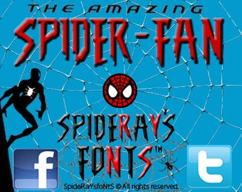 The Amazing Spider-Fan Commercial Font
