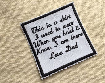 IRON-ON Zig Zag Edge Memory Patch - 2 Sizes, 15 Patch Colors, This is a shirt I used to wear, In Memory Of, Memorial Patch, Keepsake Patch