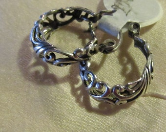 Filigree Sterling earrings