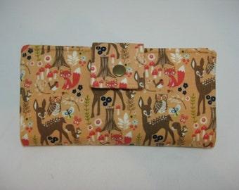 Womens Wallet, Handmade Ladies Wallet, Wildlife Clutch