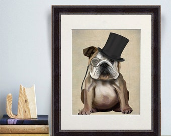 English Bulldog gift Classy dog monocle English Bulldog mom English Bulldog owner unique gifts for men gifts for dad fathers day gift idea