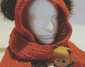 Ewok Inspired Scoodie (Hooded Scarf) - Three Length Options - Made-to-Order