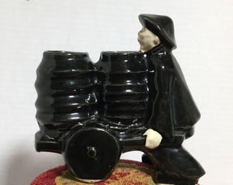McCoy Pottery Planter Asian Man with a Cart - Mid Centruy
