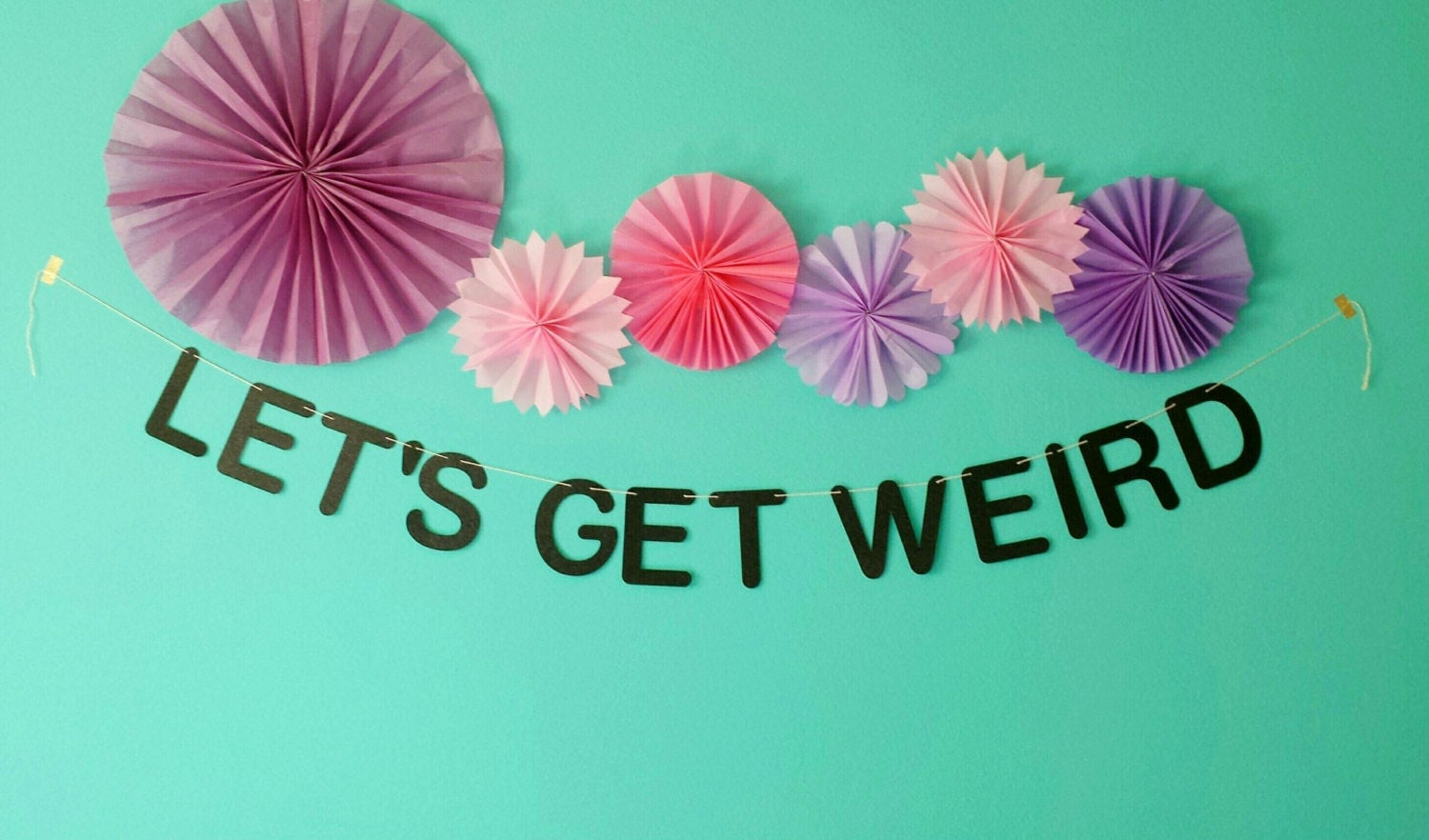 Lets get weird party banner gold glitter black zoom amipublicfo Gallery