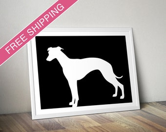 Whippet Print - Whippet Silhouette