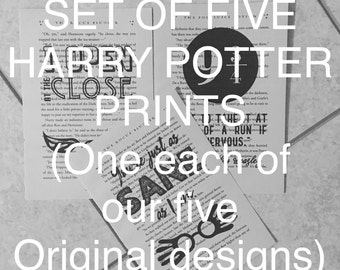Set of 5 Harry Potter Decorative Prints