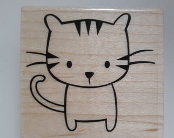 Cute Cat Wood Mounted Rubber Stamp Scrapbooking & Paper Craft Supplies