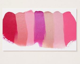 Business Card Template, LIPSENSE/SENEGENCE Business Card, Lipstick Smudge, Instant Download DIY Blank Business Card Template