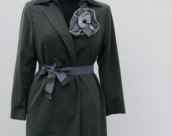 Vintage grey Blazer jacket long 70 years