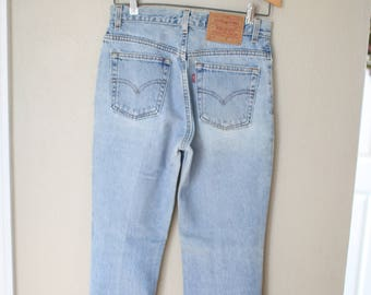 vintage 1980's high rise  levis 517 mom  jeans denim 28 29