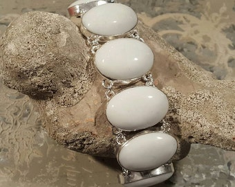 ROYAL! WHITE CORAL, Sterling Silver, Bracelets, Cuffs, Bangles, Womens Bracelet, Birthstone, Sagittarius, Metaphysical, Astrological, Chakra