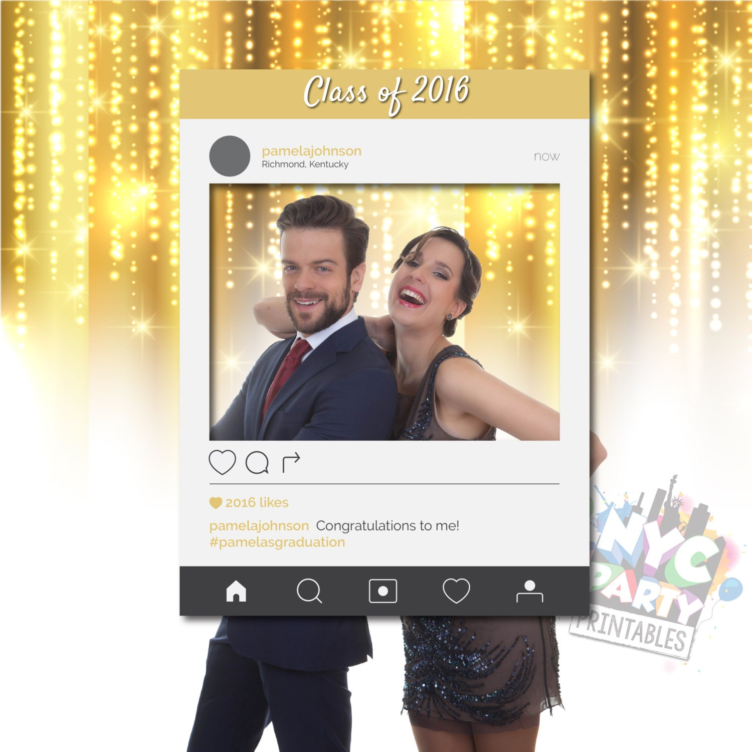 graduation photobooth instagram photo booth frame with profile picture ig photo booth frame photo booth frame printable photo booth