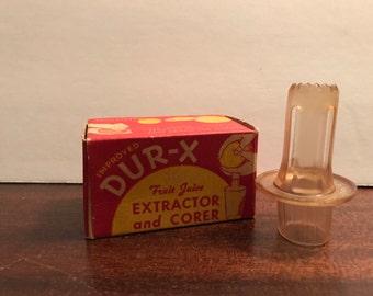 VINTAGE DUR-X FRUIT extractor