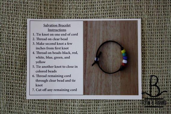 salvation bracelet craft instructions
