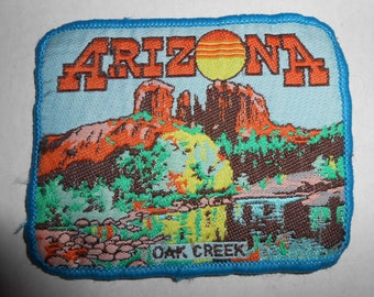 "Vintage Arizona Oak Creek Canyon Patch 3.5""x2.75"""