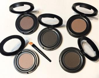 MUSHROOM Auburn Natural Mineral Eye BROW Powder - Organic Gluten Free Vegan Mineral Makeup