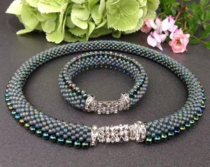 "2-tlg. ""ALEX"" jewellery set necklace & bracelet"