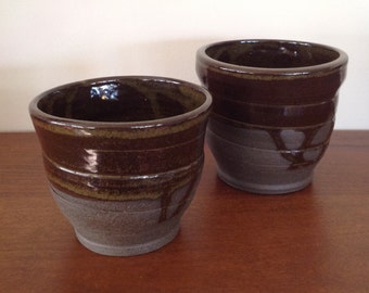 Tea bowls, ceramic, handmade, stoneware