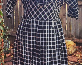 Checkers Match Dress: 1950s S/M Mad Men