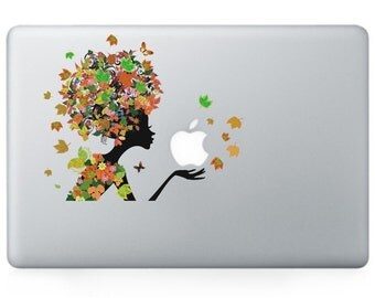 Macbook 13 inch decal sticker danelion and apple art for Apple Laptop