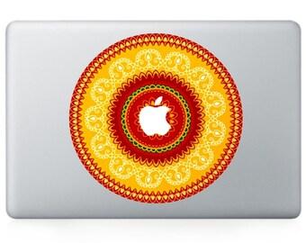 Macbook 13 inch decal sticker Archery target face kaleidoscope for Apple Laptop