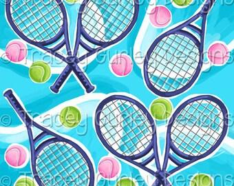 Sports digital paper, Tennis art, tennis digital paper, Preppy digital paper, digital scrapbook paper, tennis racquet, tennis racket