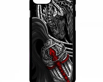 English St georges cross knight fighting dragon templar tattoo graphic art cover for Samsung Galaxy S5 S6 s7 edge plus note 4 5 phone case