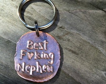 Best Effing Nephew Key Chain gift under 25