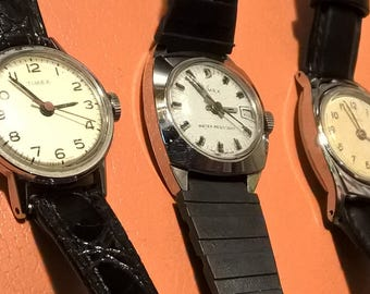 Ladies British Made 'Timex' Classic Mechanical Hand wind Watches - Choose one