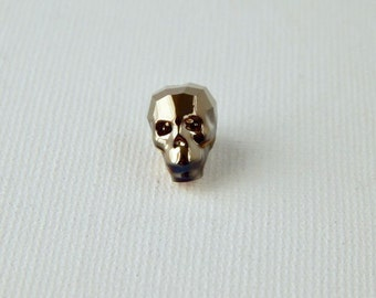 13mm Swarovski™ Crystal Skull Beads Metallic Light Gold