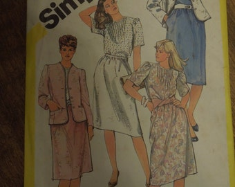 "Simplicity 5853, size 20 1/2"", skirt, blouse and lined jacket, UNCUT sewing pattern, craft supplies"