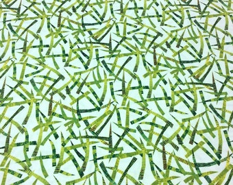 The Very Hungry Caterpillar Encore by Eric Carle for Andover Fabrics for Makower UK 7237/XG Leaf Toner