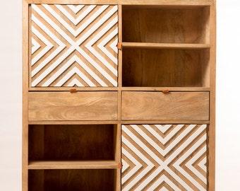 Buffet design geometric wood