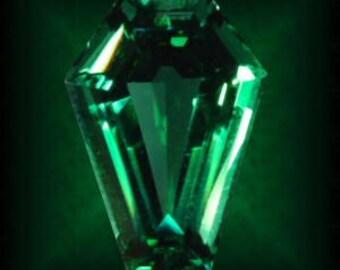 5 Carat Coffin Gem - Emerald Green