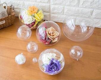 HOT Transparent ball shape bottles acrylic terrarium balls open-able balls home deco outdoor gardening acrylic balls YQ3