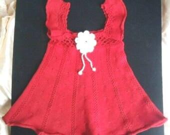 Платье вязаное для девочки  Dress Knitting for girls