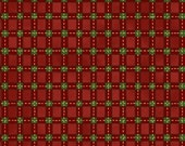 Half Yard Christmas Tidings - Plaid in Red and Green with Metallic Accents - Cotton Quilt Fabric - Windham Fabrics - 40276M-3 (W3610)