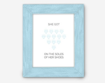 She Got Diamonds on the Soles of Her Shoes (Paul Simon Print)