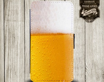 """Handytasche, Leather Wallet Phone Case  iPhone & Samsung,Sony Xperia  """" Prost """""""