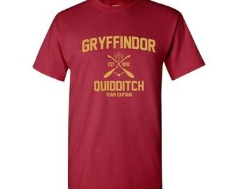 Harry Potter Shirt Gryffindor Shirt Harry Potter Gryffindor Quidditch Hogwarts Gryffindor Tshirt Gryffindor T-shirt Gryffindor Tee Unisex