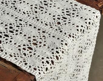"""Crochet table runner width 9,05"""" length 1.09"""""""