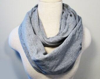 Chunky Infinity Scarf - Grey Scarf - Knit Scarf