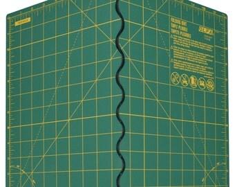 "Olfa Folding Cutting Mat OLFFCM-12X17S - 12""x17"" extended, rotary mat"