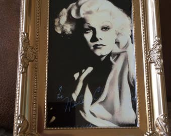 """Jean Harlow print in a gold frame 6x4"""""""